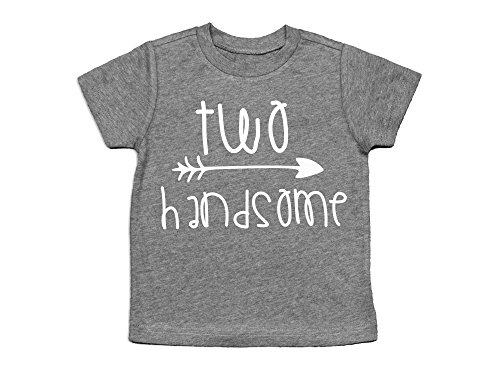 Short Sleeve Crewneck With A Screen Printed Trendy Two Handsome Design On It Years Old Turning 2 Shirt Makes The Perfect For 2nd Birthday